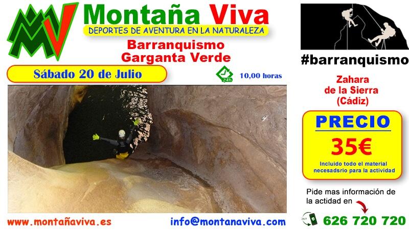 Barranquismo Garganta Verde